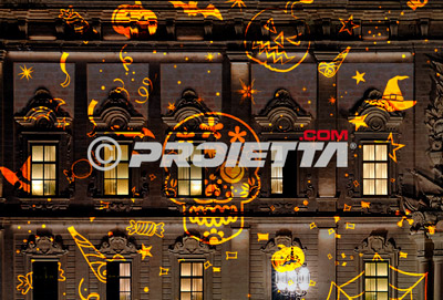 projector dynamic effect of halloween graphics