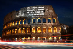 proiezioni colosseo roma
