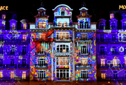 christmas video mapping montreux palace