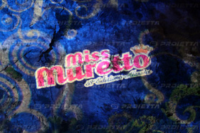 Miss muretto event, projections on mountain
