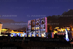 Aosta, roman theatre, sound and projections  light show