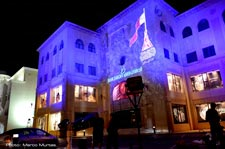 Qatar/Doha - Febr 18/2015 - Architectural projection - Blue Saloon Luxury Mall