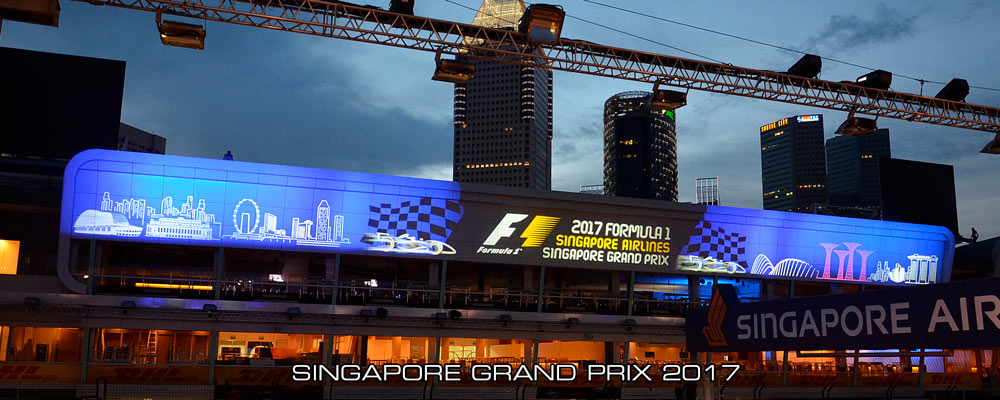 singapore 2017 grand prix projections pit lane