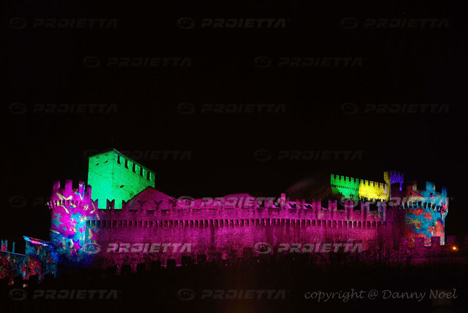 Proietta | Bellinzona in luce light festival during winter ...