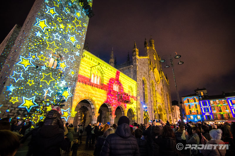 christmas videomapping and architectural projections