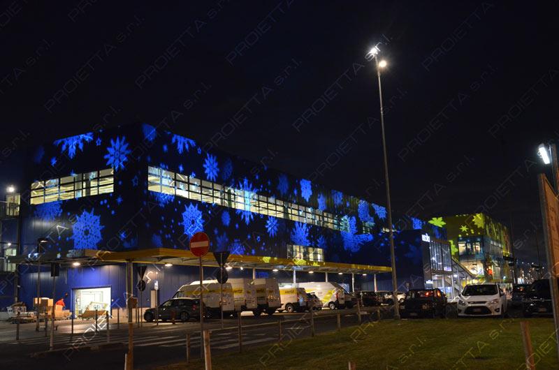 Proietta  Proiezioni natalizie e promozionali presso centro commerciale Ikea di Torino