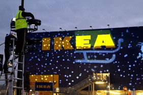 Christmas projections ikea salerno 2011 christmas for Ikea orari rimini