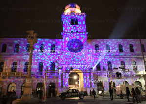 padova, christmas projections by proietta