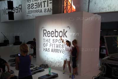 Logos and graphic projections for Reebok