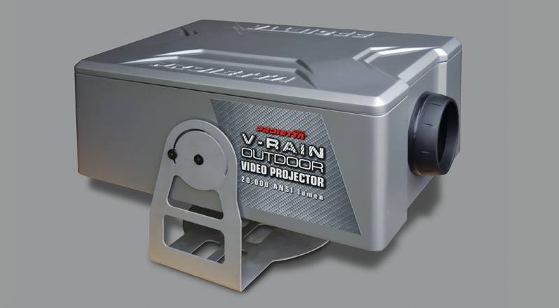 guscio da esterno per videoproiettore
