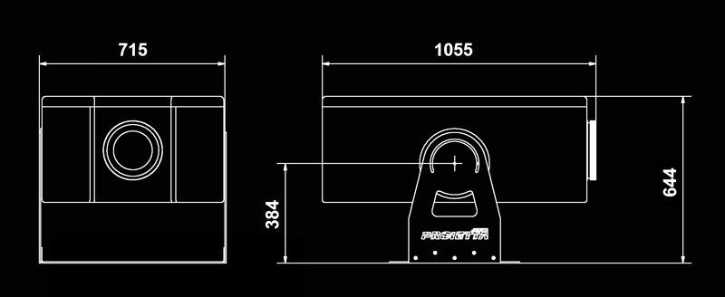 dimensioni guscio antipioggia per videoproiettori